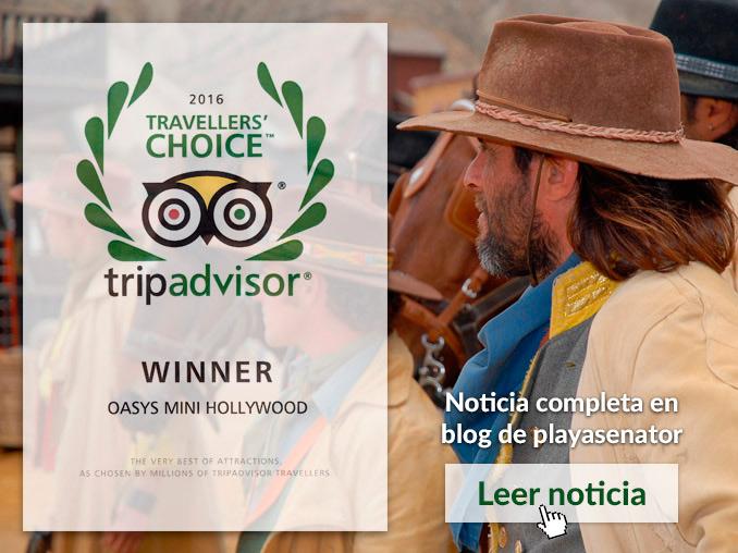Oasys MiniHollywood es premiado por TripAdvisor como uno de los mejores parques temáticos de España