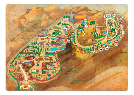 Plano del parque Oasys MiniHollywood - vista miniatura