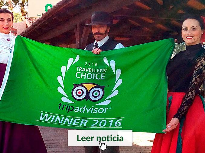 Izado de bandera del premio Traveller's Choice de Tripadvisor