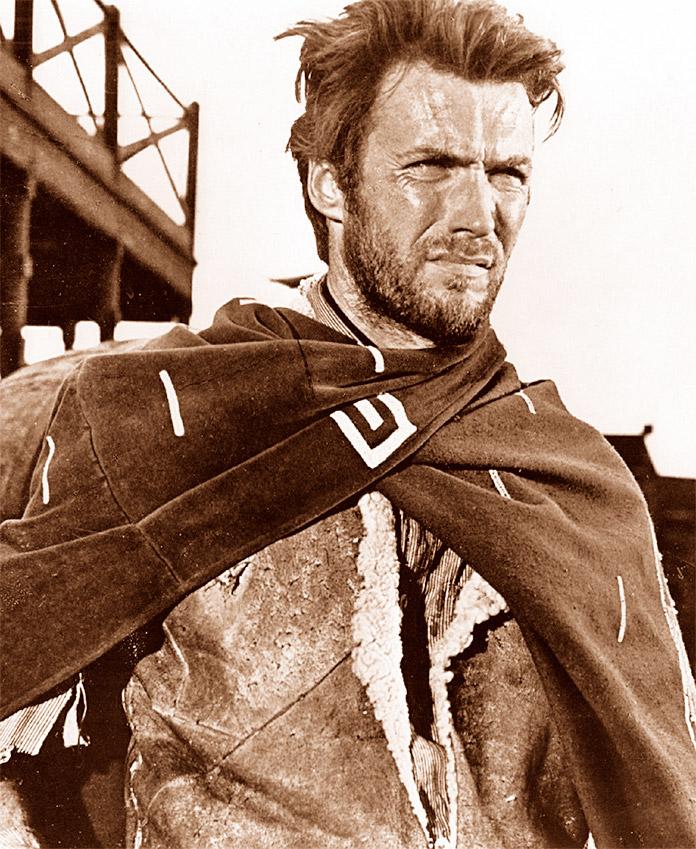 Clint Eastwood durente una escena de la película El bueno, el feo y el malo