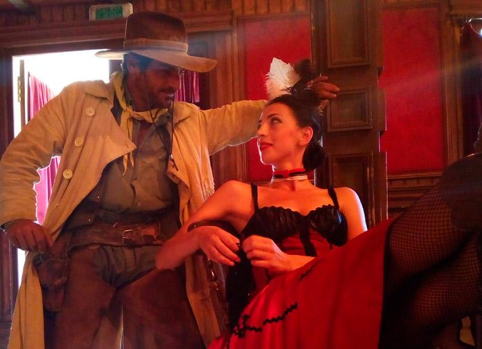 Escena en el Saloon de Oasys MiniHollywood