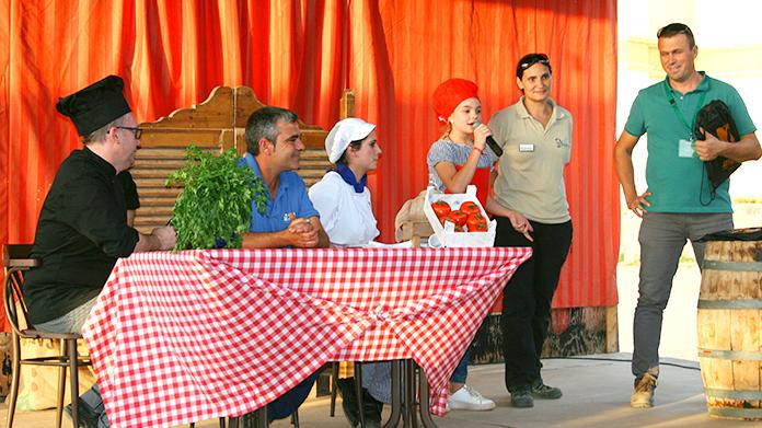 Presentación platos jurado Mini Chef