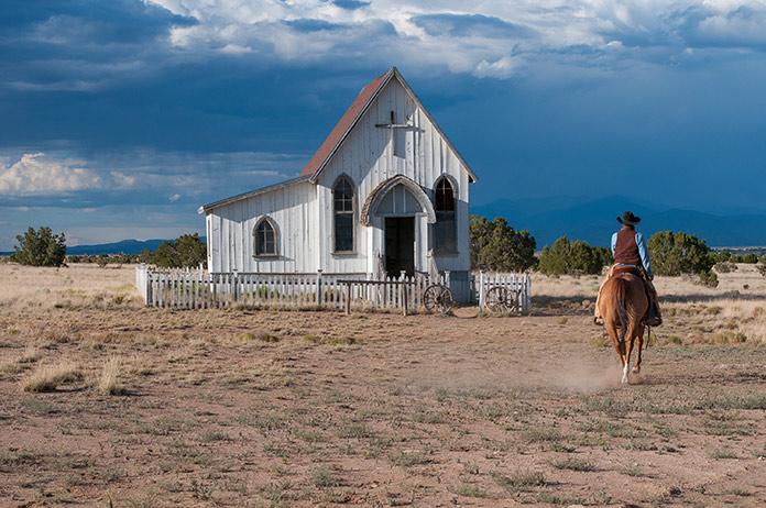 Vaquero en el campo
