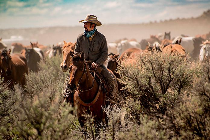 Ropa de los vaqueros americanos