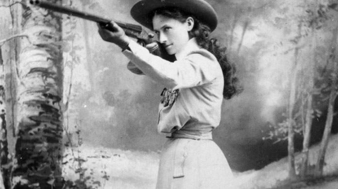 Mujeres en el oeste Annie Oakley