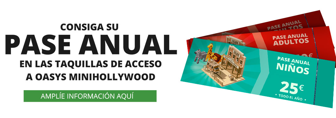 OASYS MINIHOLLYWOOD THEME PARK ANNUAL PASS