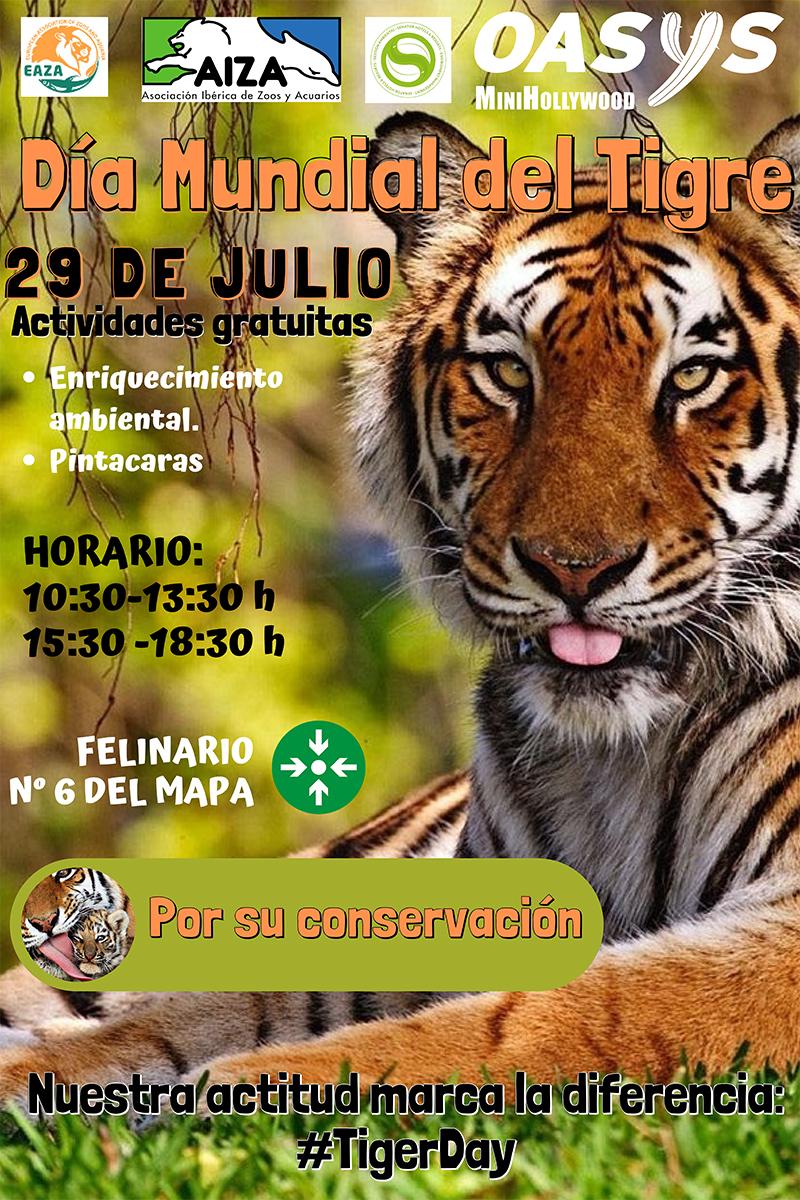 Día mundial del tigre en Oasys